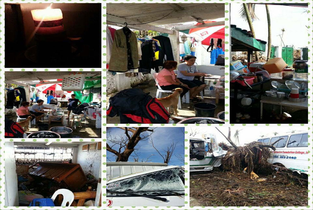 Our home and where we took shelter when we visited our parents after Yolanda. We slept, dined, cried, and discussed all our worries in this place, the only functional area left in our home.