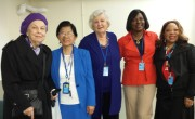 CSW59 delegates: L to R: B. Reardon, R. Nalundasan-Abijan,  J. Kimmel, L. Akudolu, J. Pittman. Not on the picture: S. Ahlawat, M. G. Abijan, I. Judeh and J. Lee